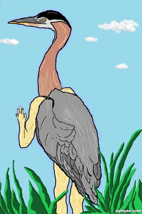 Blue Heron Twist