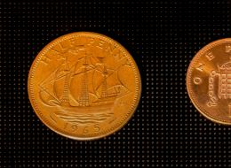 One half-penny, or half one penny?