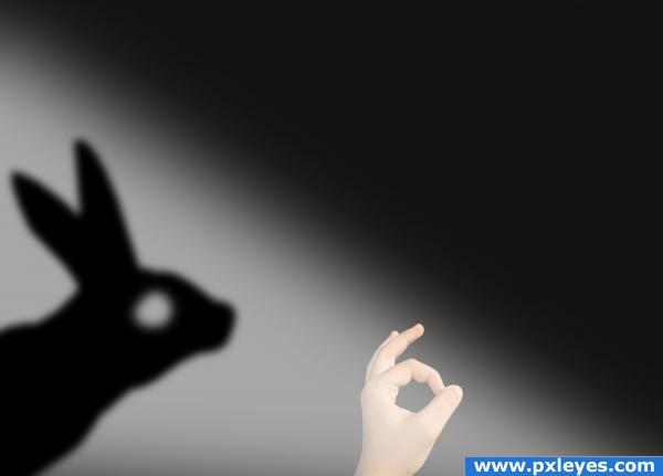 shadow rabbit picture by costar for hand sign photoshop contest