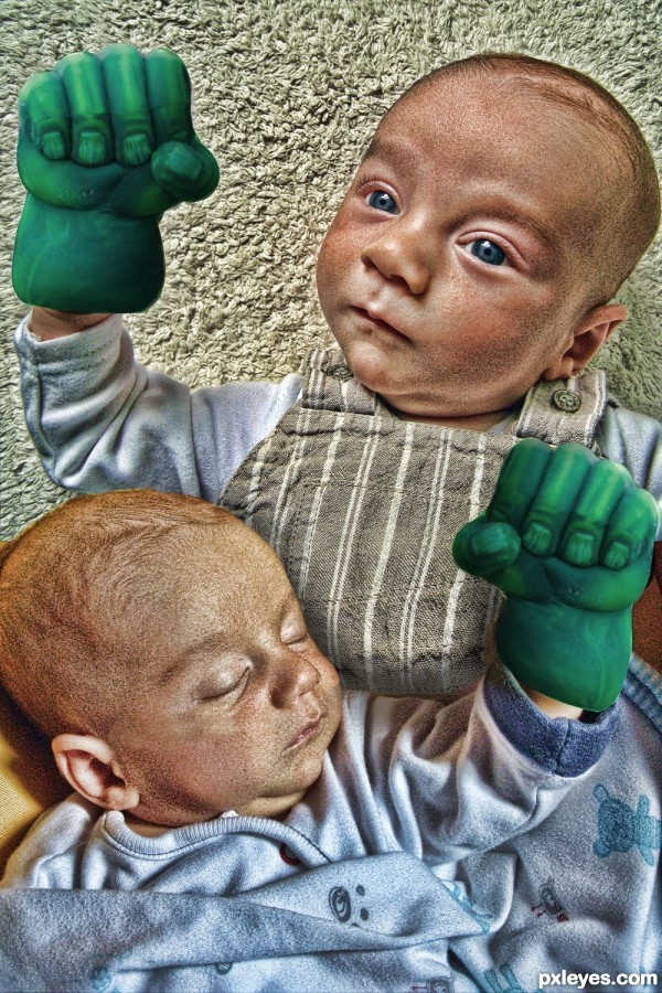 Hands of the Hulk on Babies