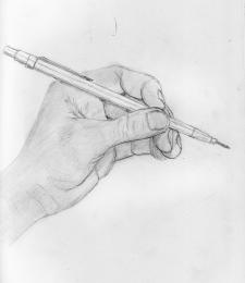 Hand and Pencil Picture