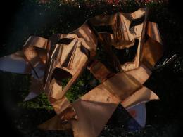 Copper Drama Masks