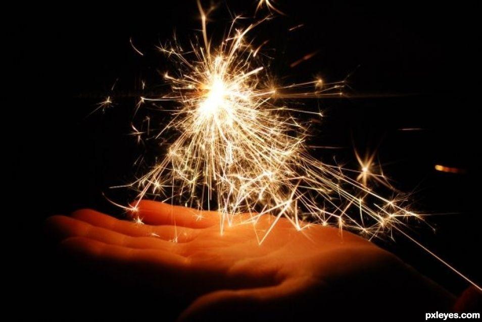 Sparkle hand