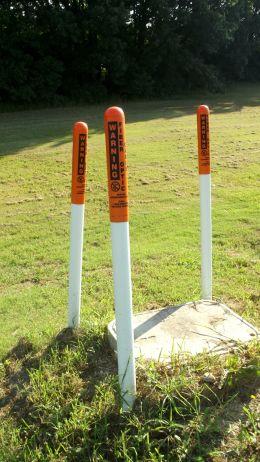 Warning poles