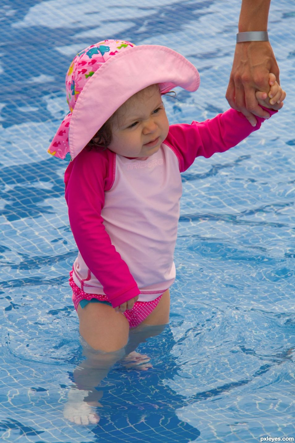 First time in a swimming pool