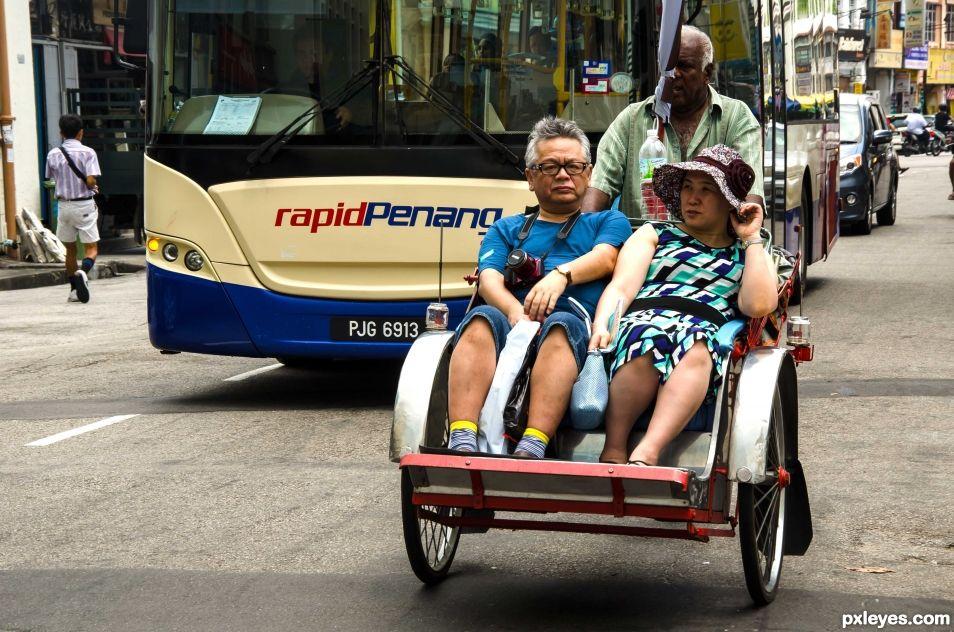 touring around by pedicab