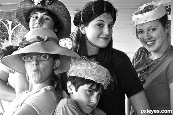 antique hat party!