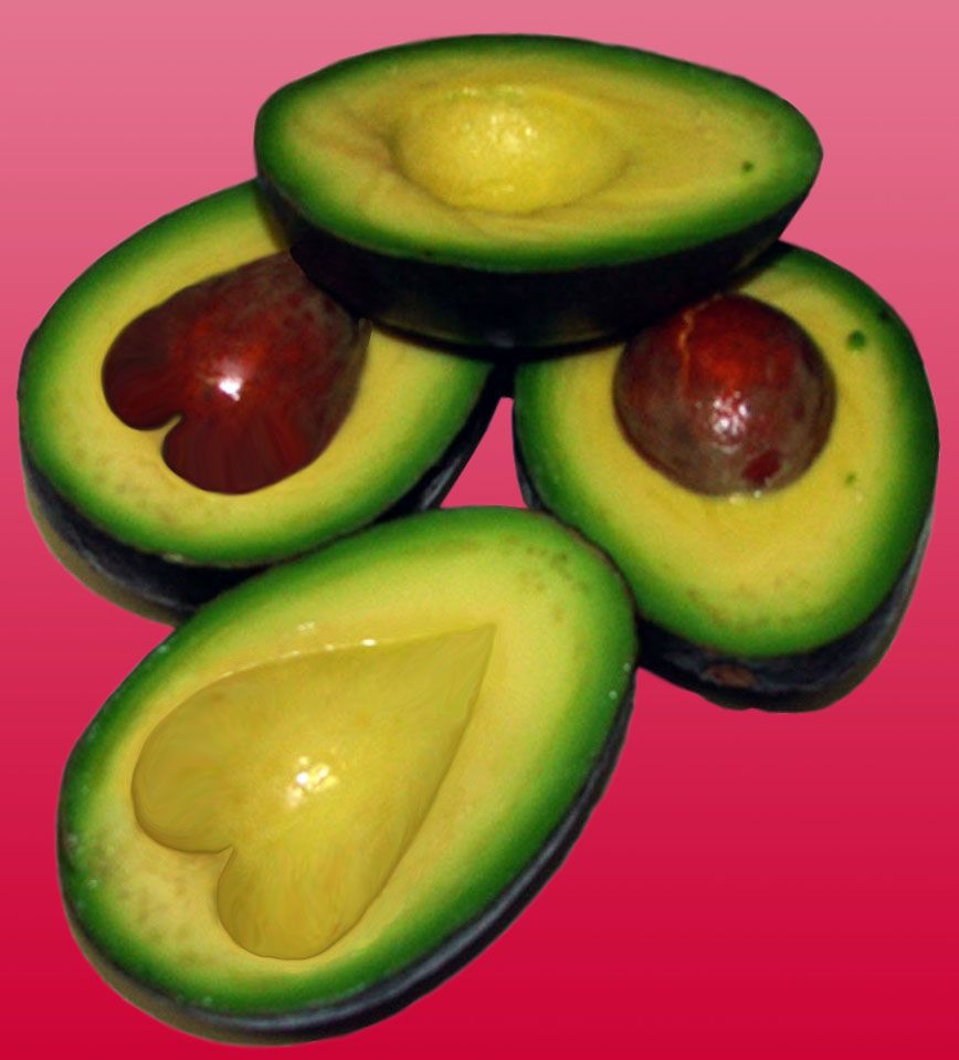 avocado i håret