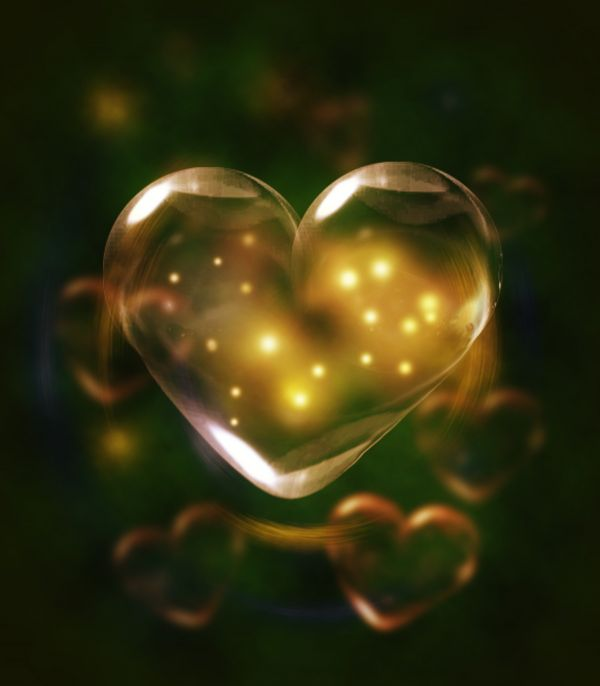 Bubble Heart photoshop picture