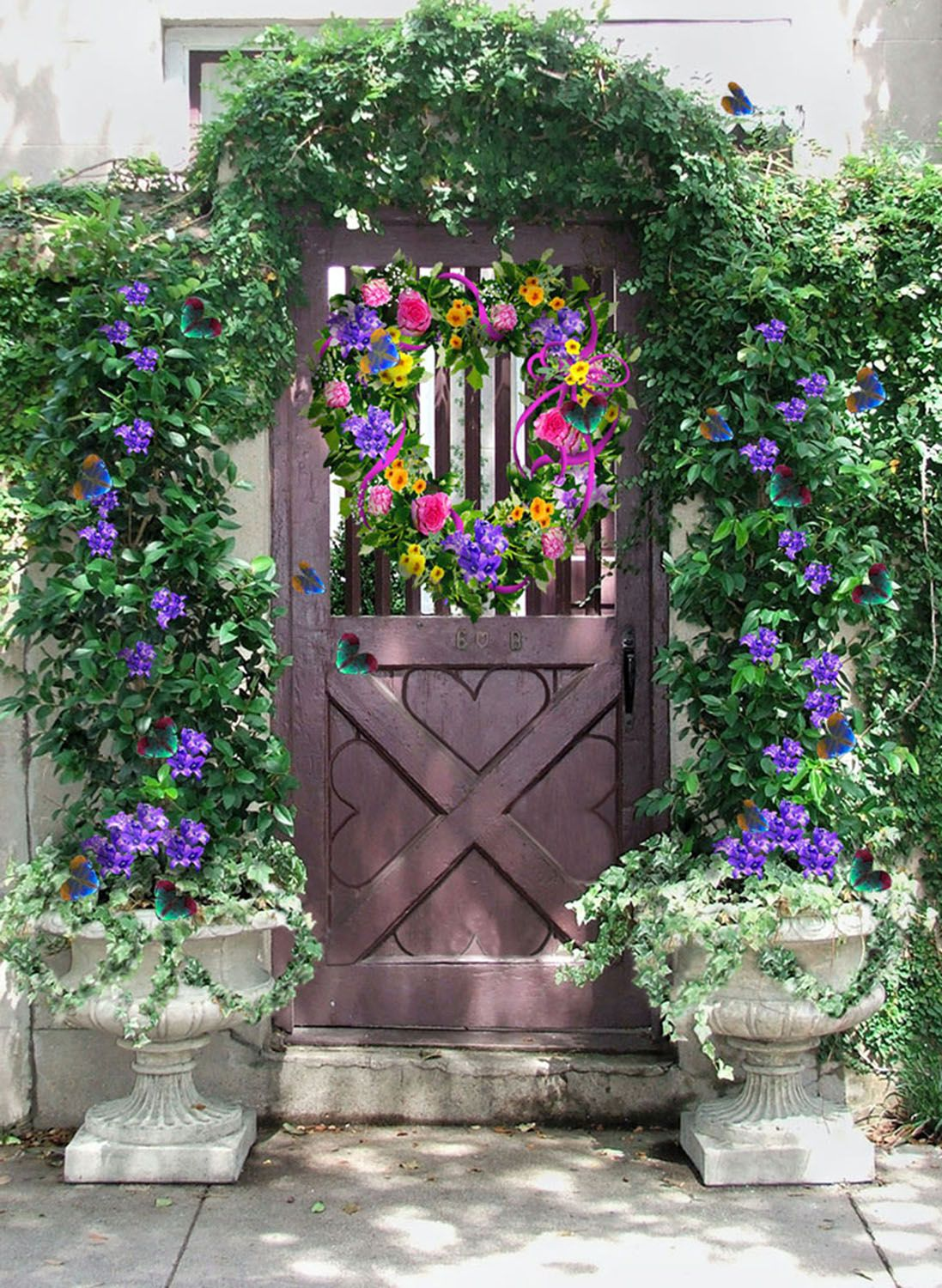 Garden Gate Picture, By Artgirl1935 For: Heart Shaped