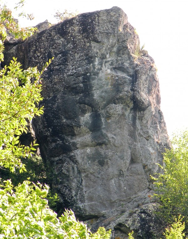 The face on the rock