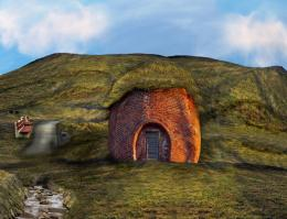 Brick Hobbit House