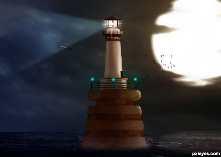 Honey Lighthouse photoshop picture)