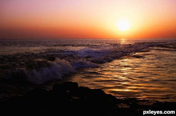 A Sunset At Diu
