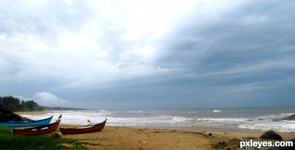 Indian west coast in monsoons