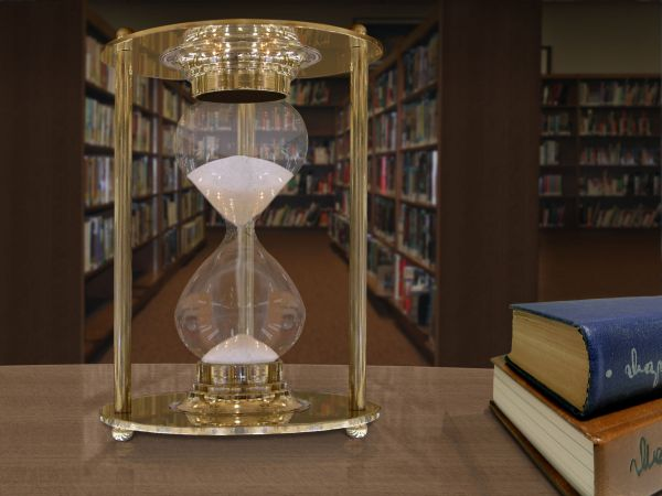 Time passing at the library