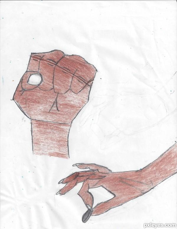 brown hands