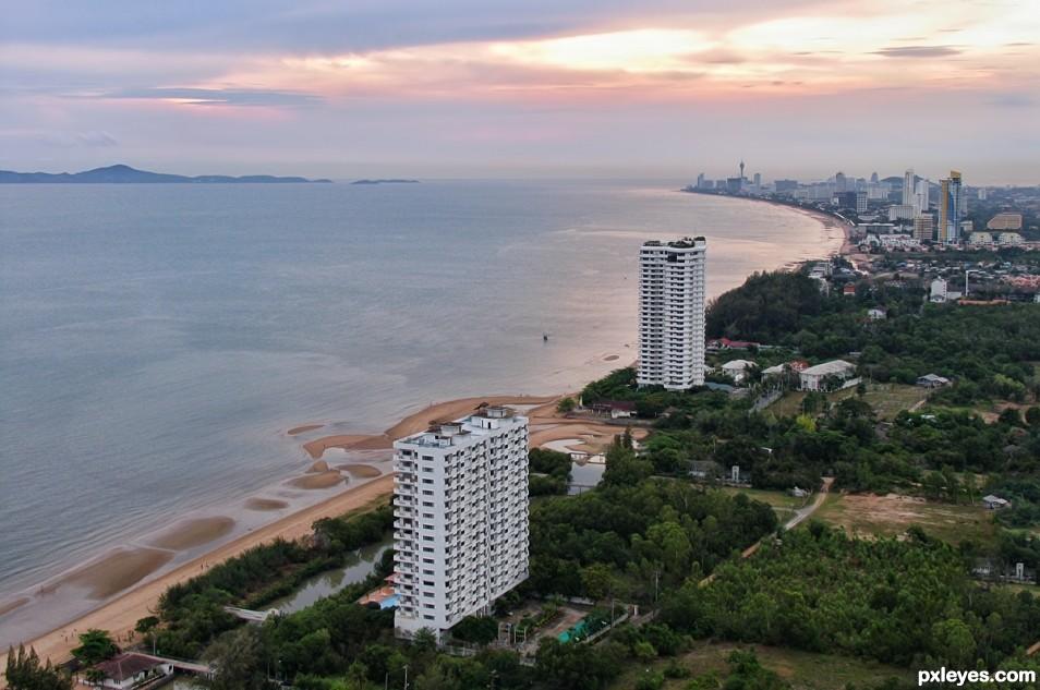 Bird View to Pattaya