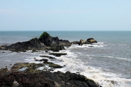 Om Beach Gokarna from top.