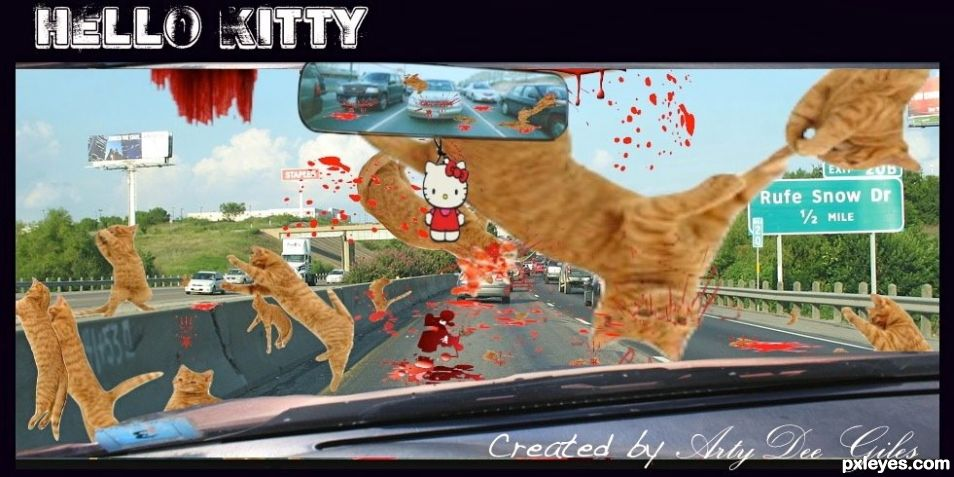 Hello Kitty( RIP) by Arty Giles