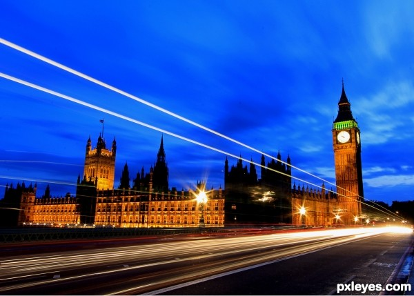 Parliament Lights photoshop picture)