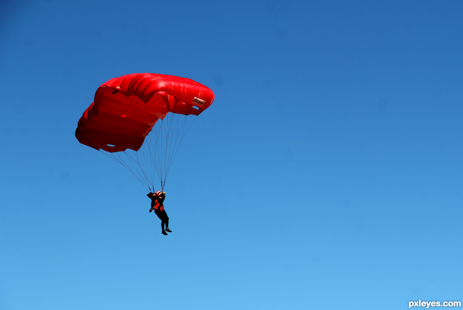 Its a Bird! Its a Plane!.. Oh.. Its a Skydiver..