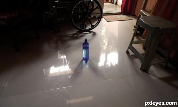 Blue Bottle in my Room