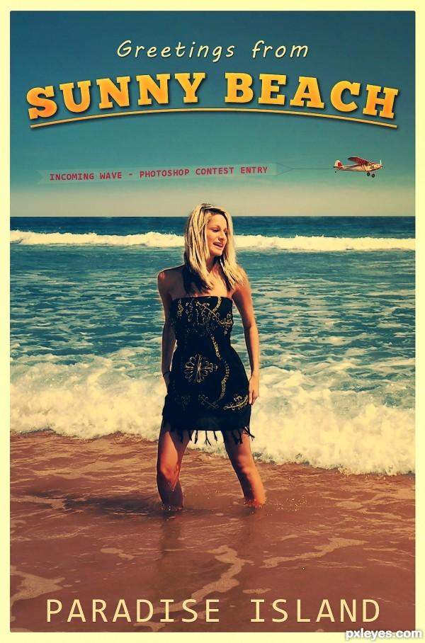 Sunny Beach Postcard