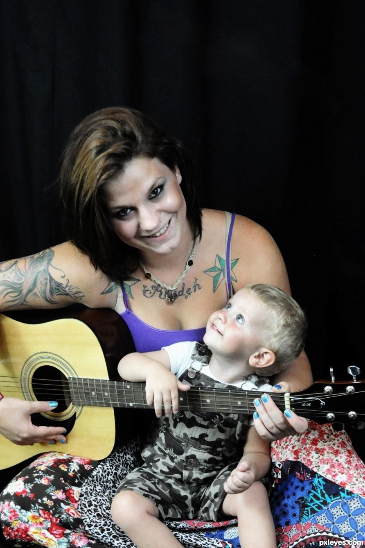 Guitar and Kid