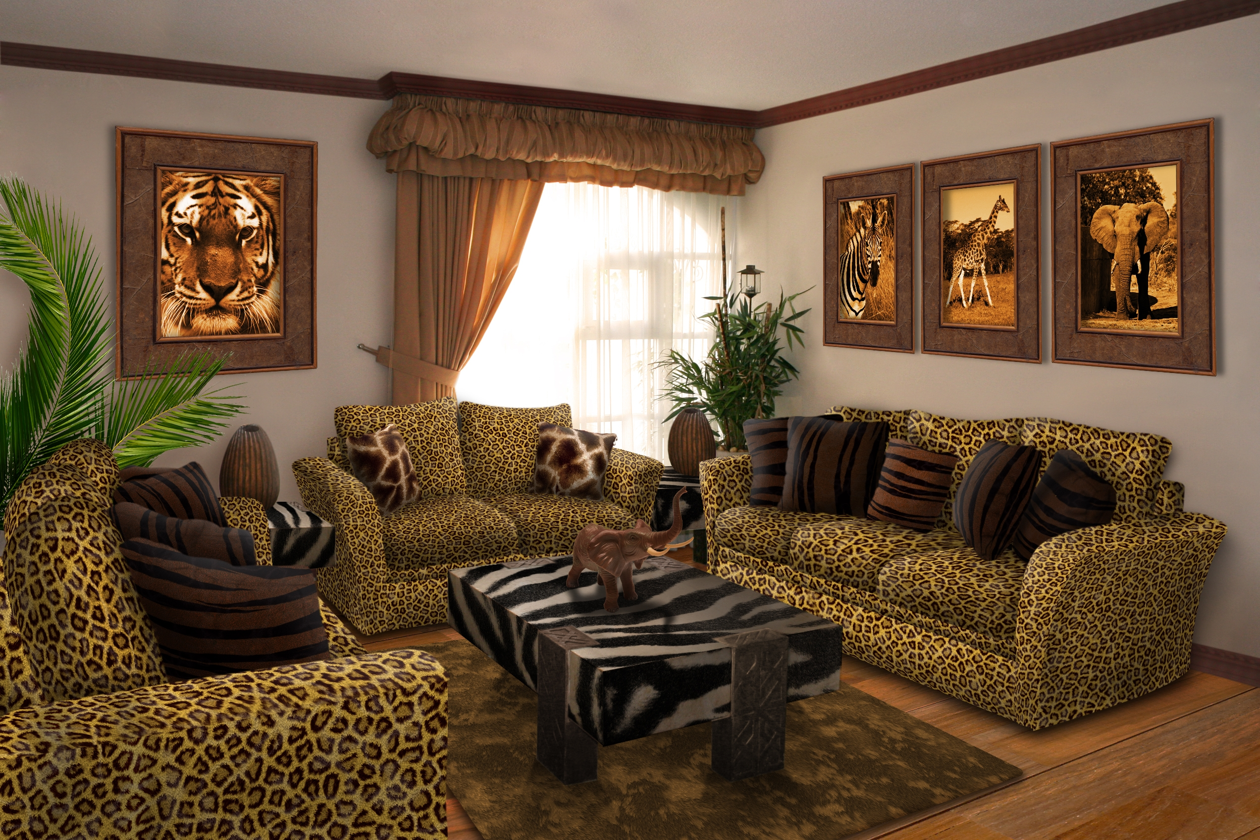 Safari living room picture by andrej2249 for interior for Jungle living room ideas