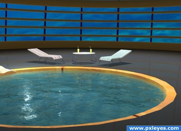 Under water pool