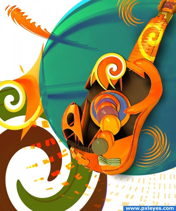 Cubistic Jelly Guitar