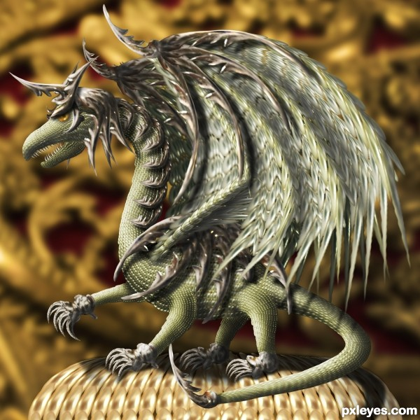 The Armored Dragon photoshop picture