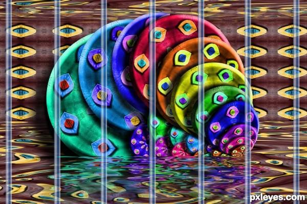 Color Disks in Prison