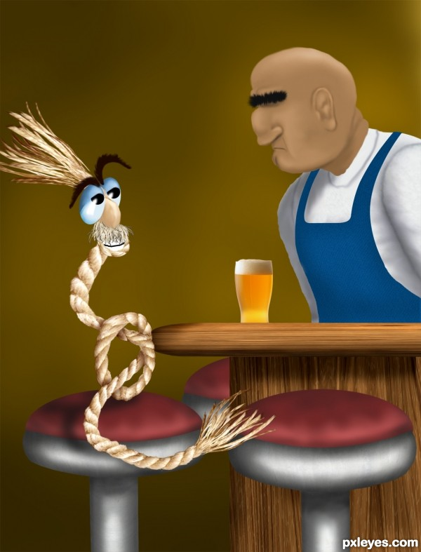 A Frayed Knot photoshop picture