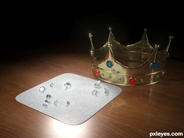 Kings Crown With Precious Gems