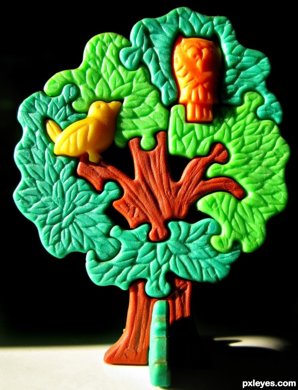 Plastic Green Tree
