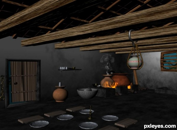 3d Guide The Making Of Old Indian Kitchen Pxleyes Com