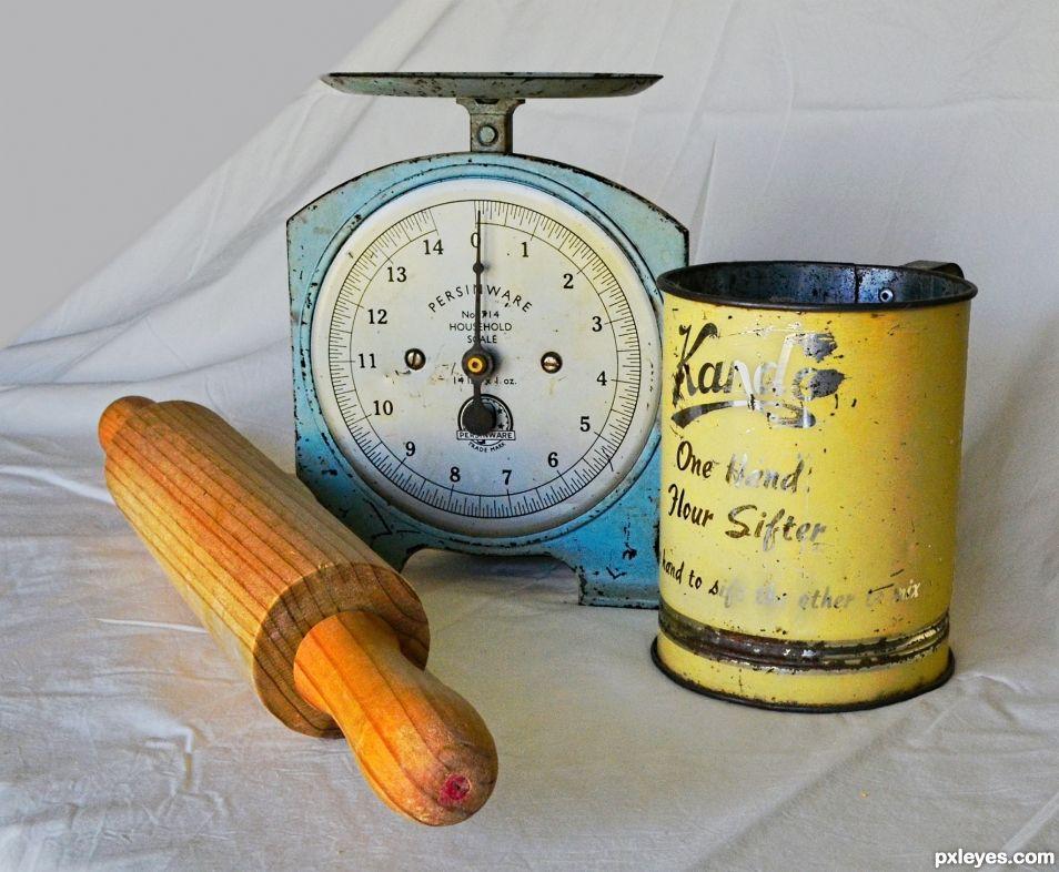 Antique baking utensils