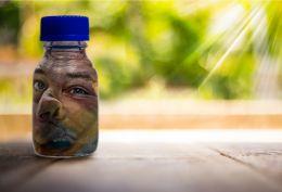 Bottled Man Face