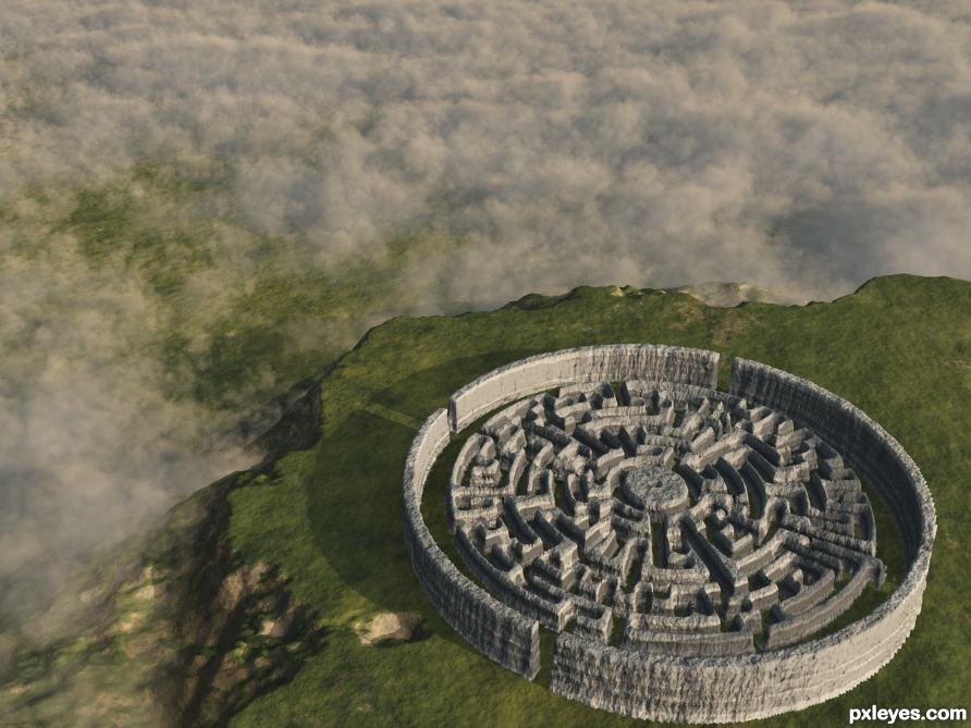 3d guide - the making of ancient rock labyrinth
