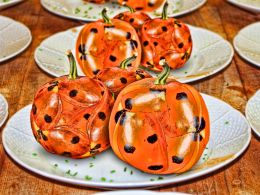 lady bird pumpkins