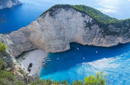 Zante sea and coast