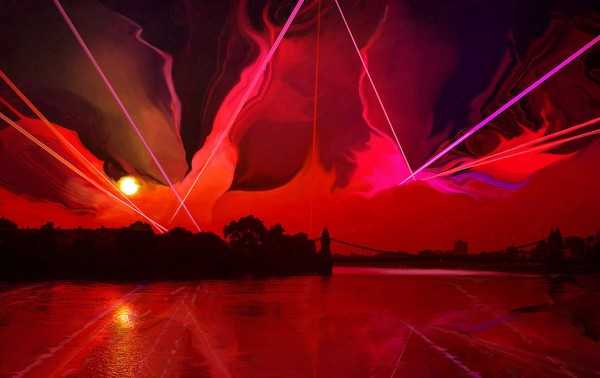 Landscape laser light show
