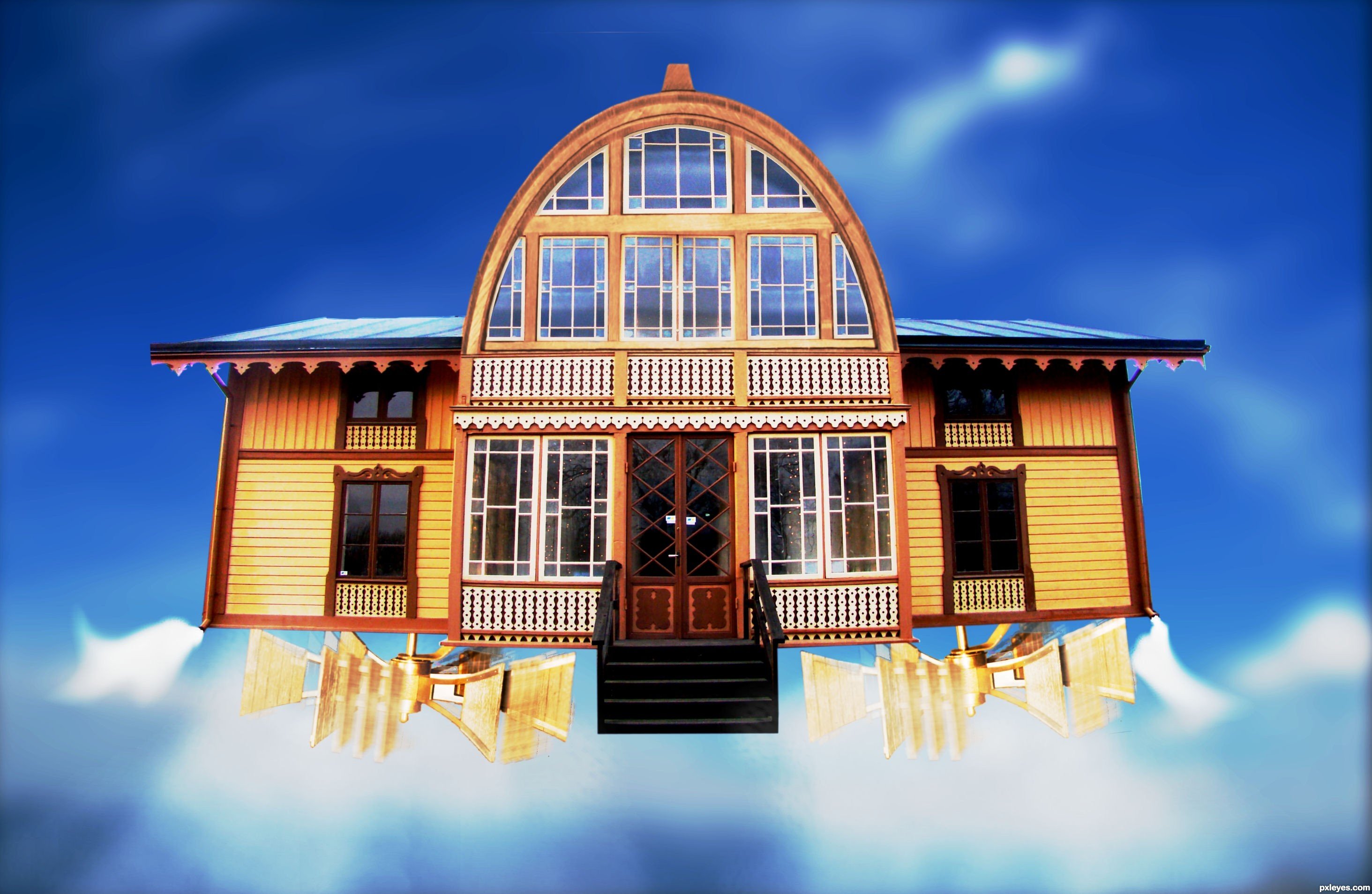 Flying house images galleries with a for Flying haus