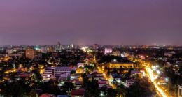 A lit city