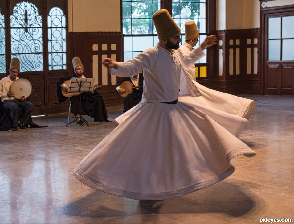 Whirling Dervishes, a sacred dance