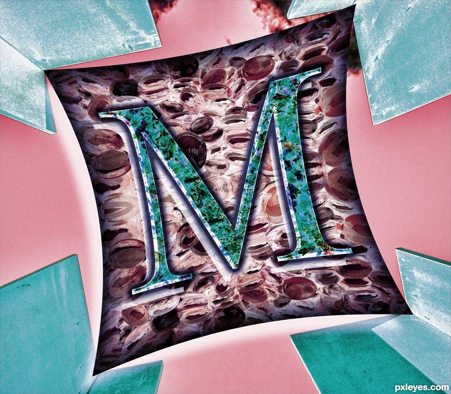 The m picture by drivenslush for letter decoration for Shoulder decoration 9 letters