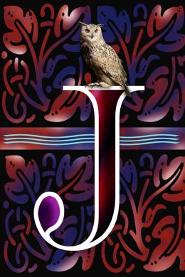 Decorated Letter J With A Night Visitor