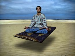 Hipster on a Flying Carpet